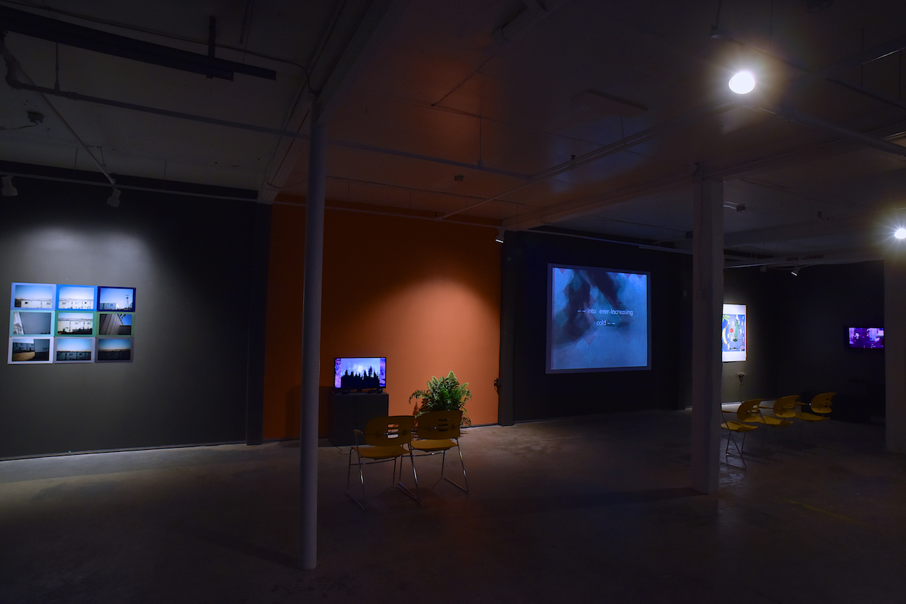 Installation shot ᐃᓱᒪᒋᓇᒍ - isumaginagu - don't think anything of it. Photo credit David Barbour